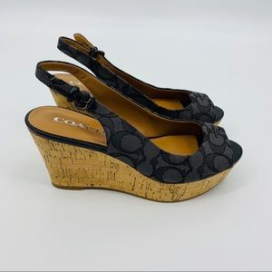 Coach Ferry Wedge Sandals